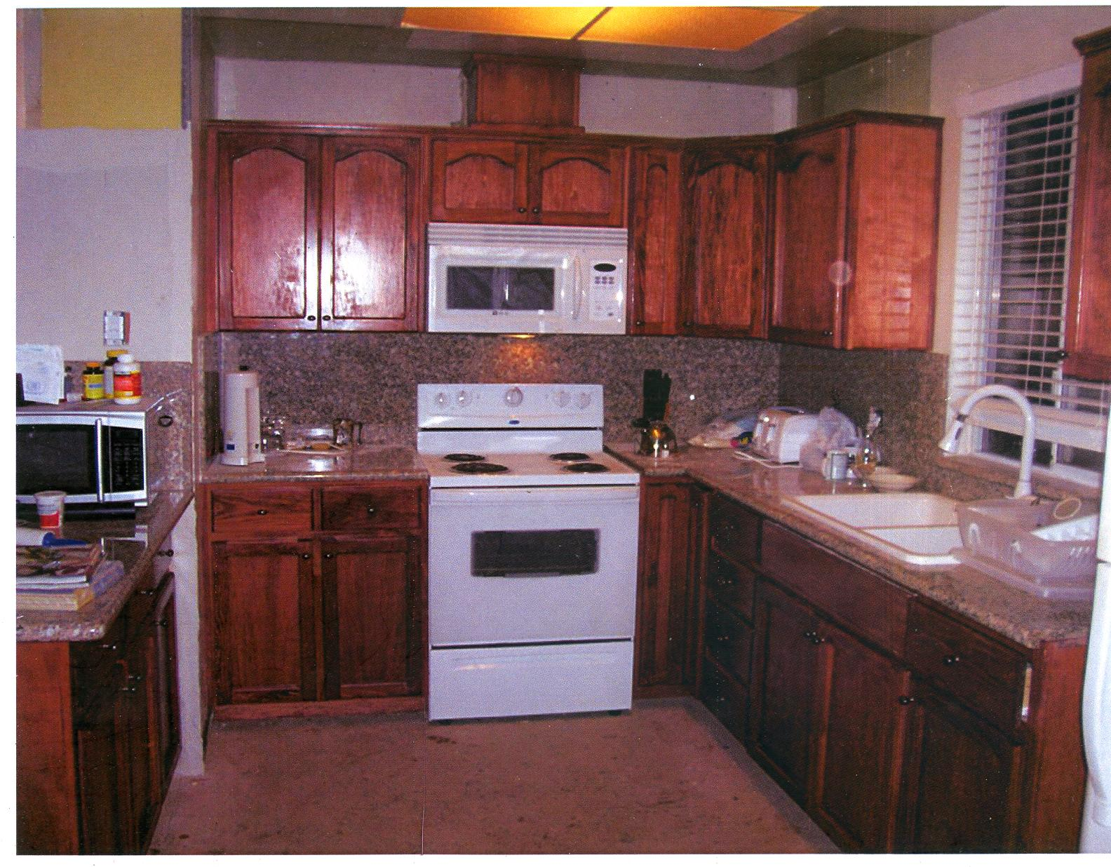 Red Mahogany Stained Cheap Cabinets And More Quality For Less