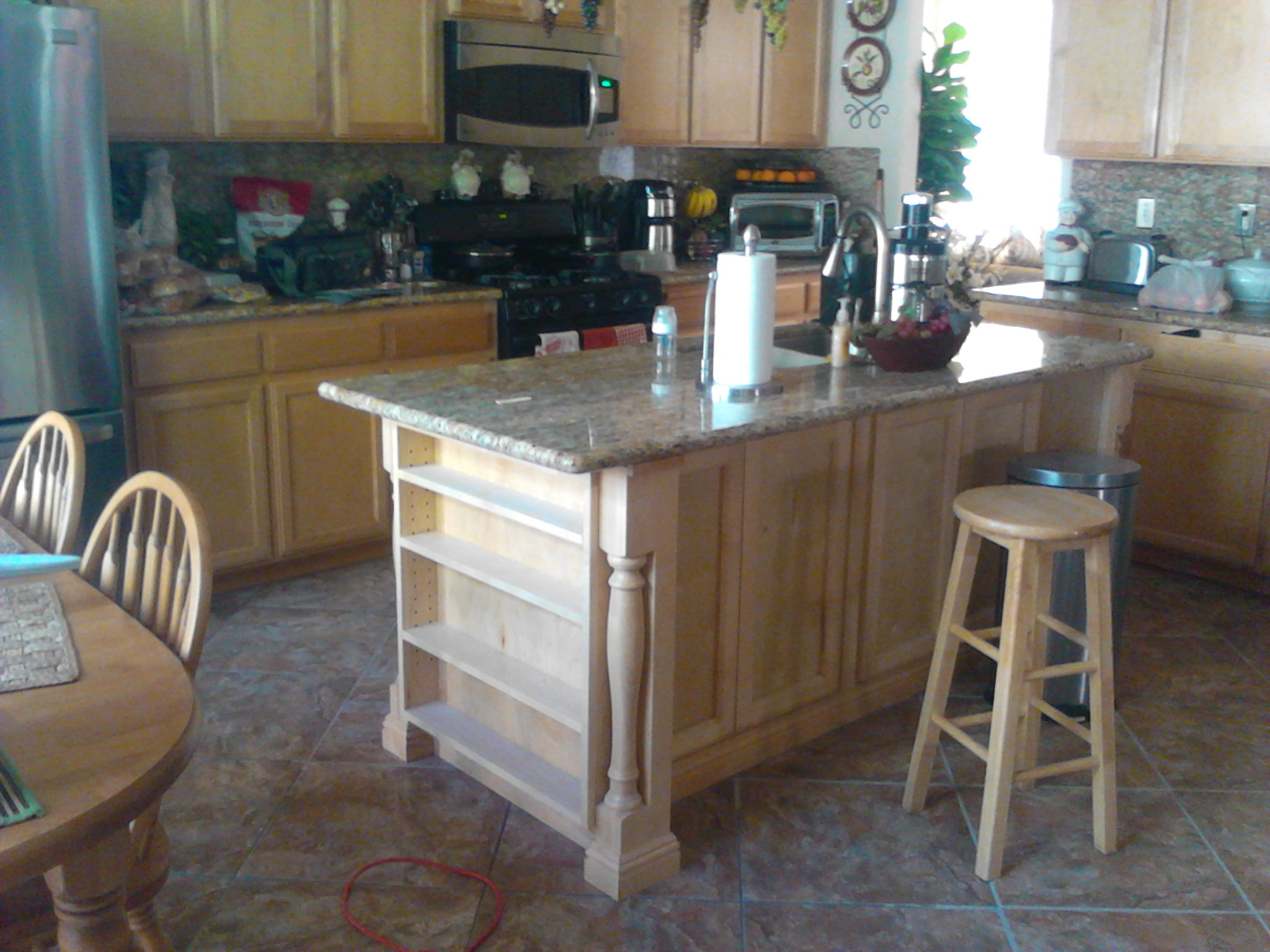 Custom maple kitchen island cheap cabinets and more for Webs custom kitchen